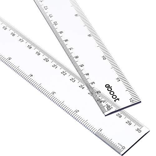 2 Pack Plastic Ruler Straight Ruler