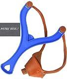 Unbekannt Futterschleuder - einfache Ausführug, blau+gratis Petri Heil! Aufkleber