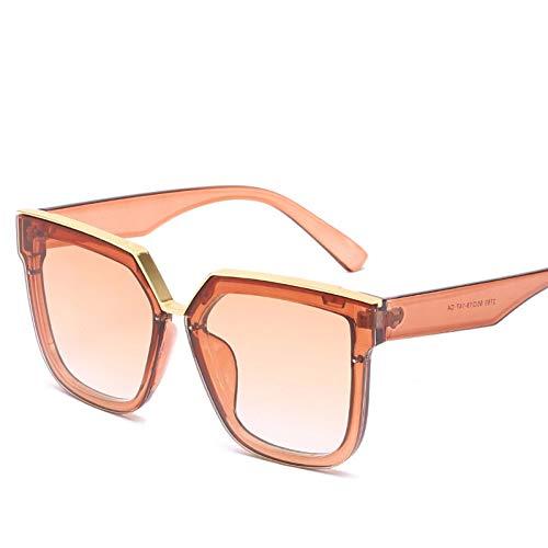 YIERJIU Gafas de Sol Gafas de Sol cuadradas de Gran tamaño para Mujer Gafas de Sol con Espejo para Mujer/Hombre Gafas Mujer diseñador oculos de Sol Feminino,CH