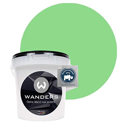 Wanders24® Tafelfarbe (1Liter, Hellgrün) Blackboard Paint - Tafellack - abwischbare Wandfarbe - in 20 Farbtönen erhältlich - Made in Germany