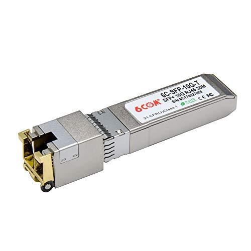 6COM Intel Compatible 10GBase-T SFP+ 10 Gigabit RJ45 Copper Transceiver 30m
