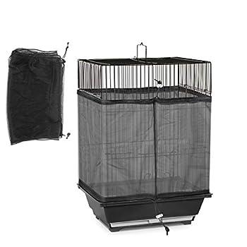iFCOW Housse de protection universelle lavable et durable pour cage d'oiseau avec cordon de serrage réglable