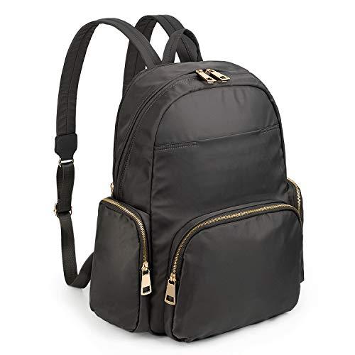 Backpack for Women Vacuum Insulated Bottle Pocket Water Resistant Lightweight Travel College School Bookbag Shoulder Bag Grey