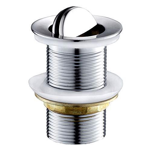Tapón de desagüe, desagüe giratorio, válvula de desagüe, desagüe giratorio de cobre cromado para lavabo, fregadero, válvula de desagüe.