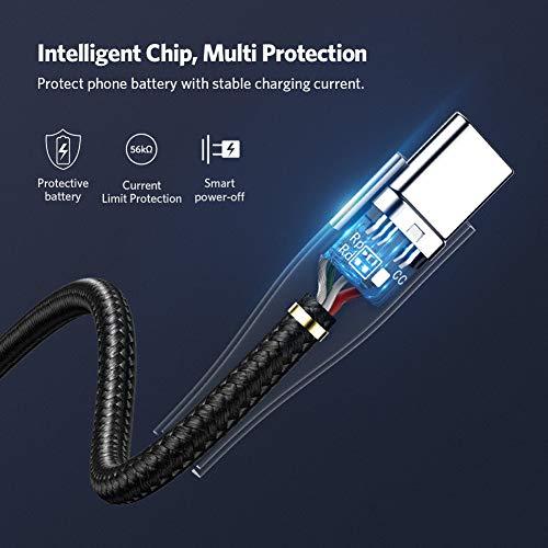 UGREEN USB C Schnellladekabel 3A USB C Ladekabel Nylon kompatibel mit Galaxy S10, S9, S8, Note8, A50,A8 2018, M20,Tab S5e, S4, Huawei P20 Lite, P9, Honor 9, Xiaomi Mi 9, Mi A2, LG G6 V30 usw. (1m)
