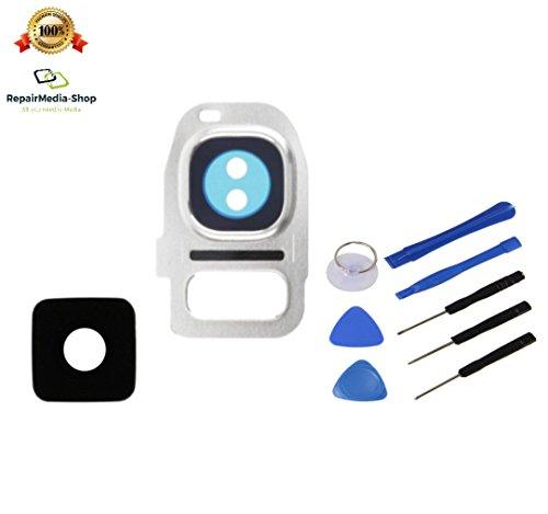 Para Samsung Galaxy S7Edge Cámara Lente Cámara Cristal Cámara Lente Lens objetiv Blanco + Herramientas