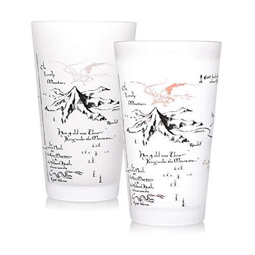 Half Moon Bay GL01HBT01 Vaso termocoloro The Hobbit Map, Cristal