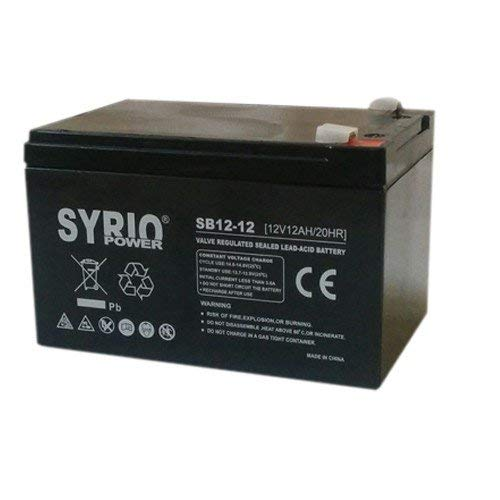 AGM Battery 26AH 12V Syrio Power Off-Grid Solar System Electric Vehicles Marine