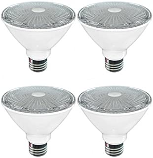SleekLighting Par 30 LED 11 Watt Dimmable Wide Flood Short Neck Light Bulb(40°), Warm White (2700K), 800 Lumens, E26 Medium Base, 75 Watt Equivalent, Energy Star & UL Listed Wet Location Pack of 4