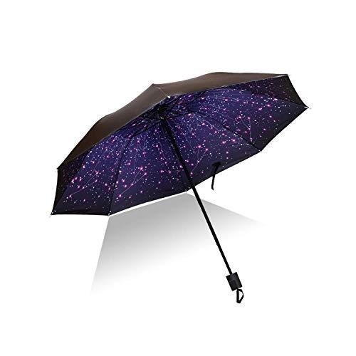 Paraguas plegable de vinilo anti-UV a prueba de viento sombrilla de lluvia paraguas de bolsillo de niño niña paraguas