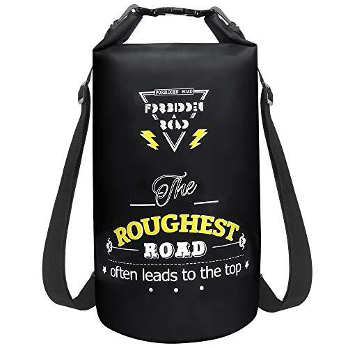 Forbidden Road Waterproof Dry Bag 2L / 5L / 10L / 15L / 20L Roll Top Sack Bag for Kayaking Boating...