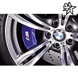 myrockshirt Kompatibel für BMW Fahne 4 x Bremsenaufkleber Bremsen Aufkleber Bremssattel Hitzebeständig Decals Stickers