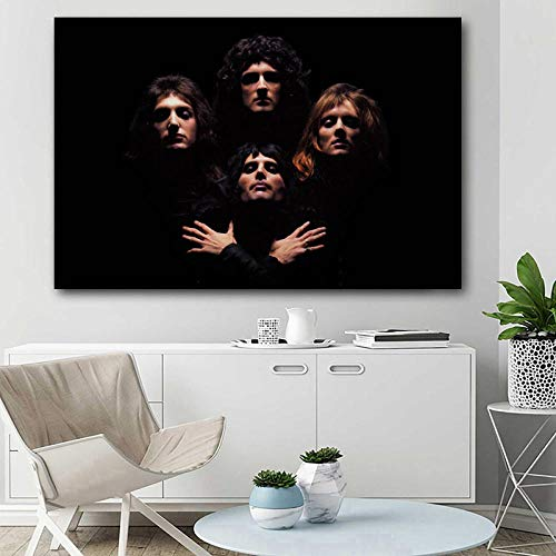 MZYZSL Posters and Prints Queen Music Legend Freddie Mercury Wallpaper Canvas Wall Art Paintings for Living Room Decor 50x70cmx2 no Frame