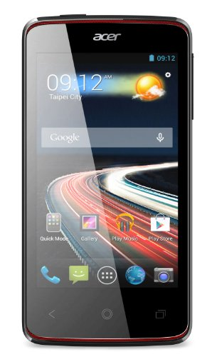 Acer Liquid Z4 Dual-SIM Smartphone (10,2 cm (4 Zoll) Display, 5 Megapixel Kamera, Dual-Core Prozessor, 1,3GHz, Android 4.2) schwarz