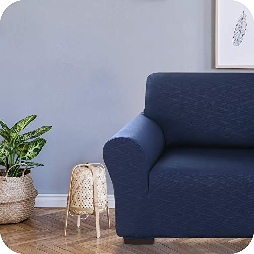 UMI. by Amazon Funda para Sofa Decorativa Suave de Salon Comedor 1 Plaza Azul Marino