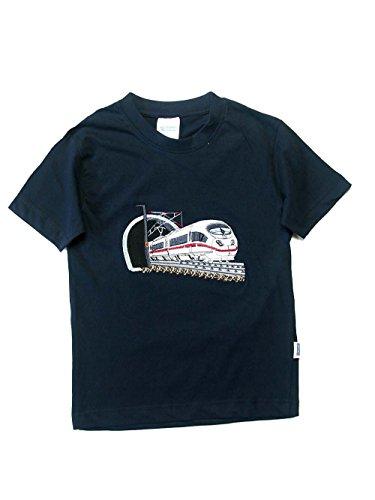 Zintgraf Oeko-TEX® T-Shirt Stickerei Schnellzug Eisenbahn J28 (152, Blau)