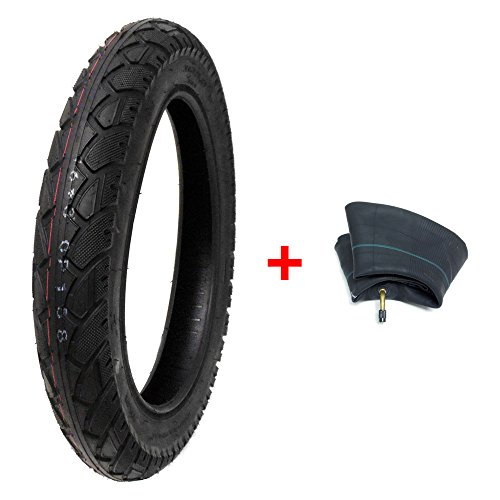 Read About MMG Combo Electric Bike Tire Size 16x3.0 (80-305) fits on 12 Inches Rim Includes Inner Tu...