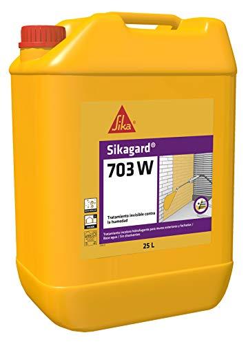 Sikaguard 703W, Repelente al agua para fachada y proteger frente a la penetración de agua, 25L