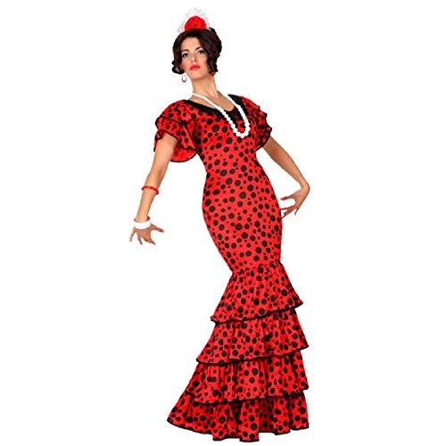 Atosa-15587 Disfraz Flamenca, color rojo, XS-S (15587)