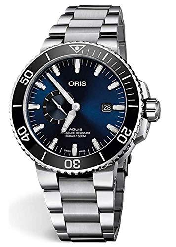 Oris Aquis - Reloj para hombre de acero inoxidable con esfera azul de 45,5 mm