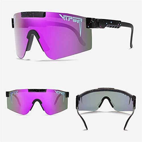 N-A Pit Viper Polarisierte Sportsonnenbrille Männer und Frauen Junge Bunte Schattierungsspiegel Radfahren Angeln Laufen im Freien professionelle Sonnenbrille (1 Stück, C04)