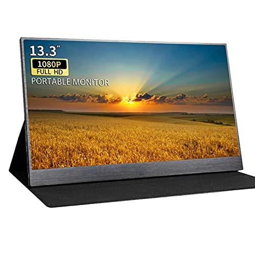 Kenowa 13.3 Zoll Type-c Portable Externe Monitor 1920 x 1080 IPS Bildschirm mit Schnittstelle USB-C HDMI für PS3 PS4 Mac Raspberry Pi B Computer Laptop
