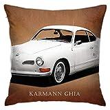 Funda de almohada MeiMei2 de 45,7 x 45,7 cm, funda de almohada Vw Karmann Ghia para sofá cama, dormitorio y sala de estar.