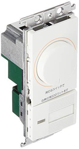 パナソニック(Panasonic) コスモシリーズワイド21 埋込調光スイッチC 片切・3路両用 ロータリー式 ホワイト WTC57525WK
