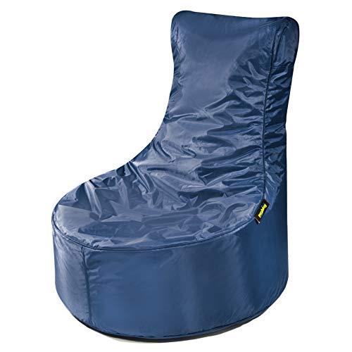 pushbag Kindersitzsack, 100% Polyester, Marine, 80 x 70 cm