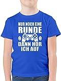 Sprüche Kind - Nur noch eine Runde - 164 (14/15 Jahre) - Royalblau - Jungen t-Shirt nur noch eine...