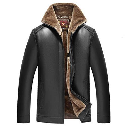 Mens Giacche di Cuoio Inverno Nuovo Casuale Dell'unità di elaborazione Cappotti di Cuoio Genuino Europeo Giacca A Vento Più Velluto Addensare 58 1