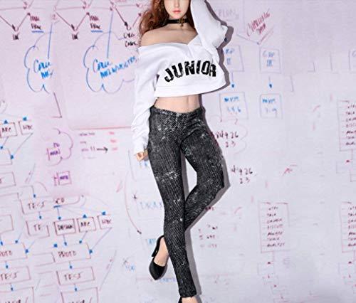 Kleding Model 1/6 Schaal Actie Figuur Accessoires Vrouwelijke Pak Wit T-Shirt Grijze Jeans Doek Van toepassing op voor 12'' Actie Figuur Gift
