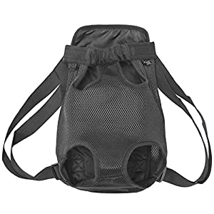 risdoada Dog Cat Carrier Backpack, Breathable Pet Travel Legs Out Backpack, Portable Small Medium Dogs Cats Puppies Adjustable Bag for Otudoors Cycling Traveling