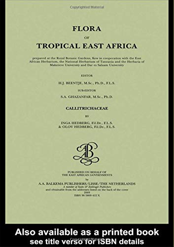Flora of tropical East Africa - Callitrichaceae (2003)