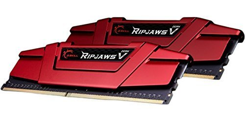 G.SKILL 16GB (2 x 8GB) Ripjaws V Series DDR4 PC4-19200 2400MHz for Intel X299 / Z270 / Z170 / X99 Platform Desktop Memory Model F4-2400C17D-16GVR