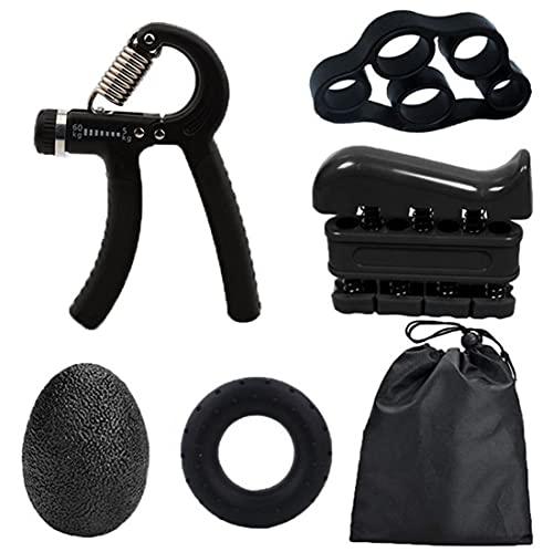 MMCCHB Kit de reforço de punho, exercitador de punho, alça de mão ajustável, maca de dedo, anel de exercício e bola de controle de alívio de tensão para atletas e músicos