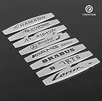 2pc 新しい3DモータースポーツMパワーロゴメタルデカールバッジステッカーエンブレムフィットベンツBM-W車 (Mazda)