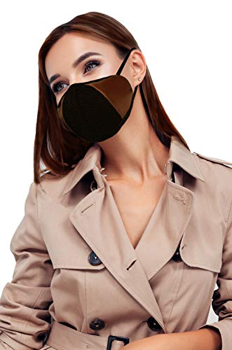 F Gear Luxur Small F95 Mask Brown Pack of 1 Safeguard 7 layer ISO CE SITRA lab certified >95% Bacteria Filtration