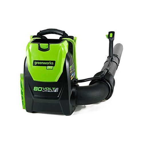 Greenworks BPB80L00 80V 145MPH - 580CFM Cordless Backpack Blower, Battery and Charger Not Included (Renewed)
