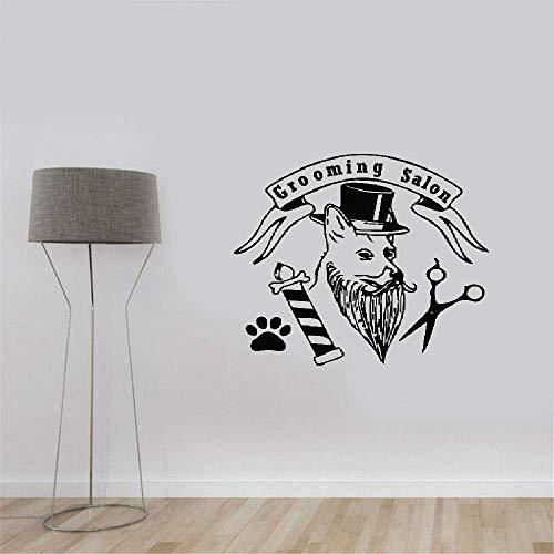 wandaufkleber 3d Wandtattoo Wohnzimmer Hut Hund Schere Paw Salon Fashional Style