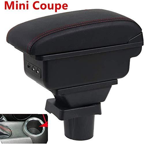 QMZDXH Auto Armlehnen Für Mini Cooper R50 R52 R53 R56 R57 R58 F55 F56 F57 Compatriot R60 F60 Armlehnenstil Auto Zubehör Box (schwarz)