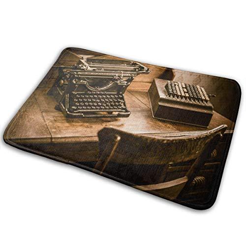 Lemotop Deurmat, buitendeurmat, keukentapijt, vintage boekenhouder, schrijftafel vintage rekenmachine