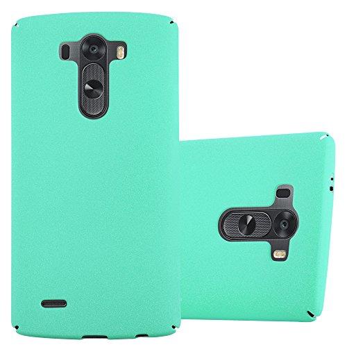 Cadorabo Funda para LG G3 en Frosty Verde - Cubierta Protección de Plástico Duro Super Delgada e Inflexible con Antichoque - Case Cover Carcasa Protectora Ligera