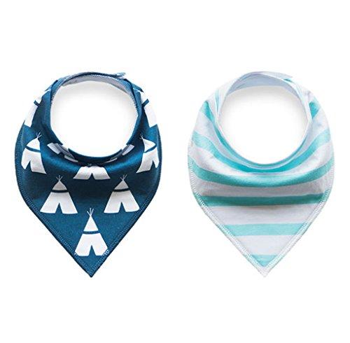 Baby Dreieckstuch Lätzchen 8er Pack Halstuch Spucktuch Lätzchen mit Druckknopf für Baby Jungen und Mädchen Kleinkinder Saugfähig Weich Größenverstellbar - 7