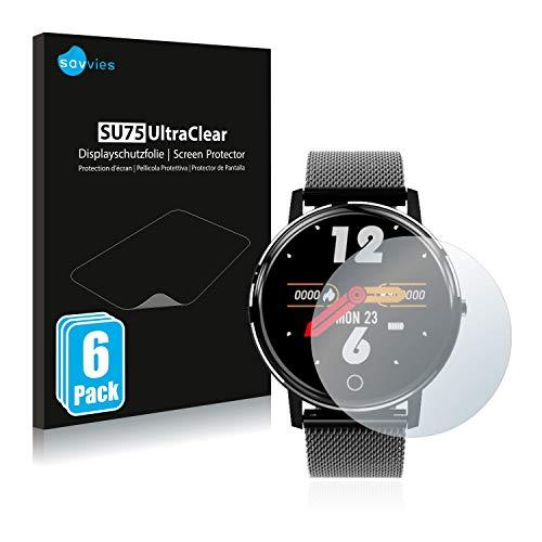 """savvies 6-Pezzi Pellicola Protettiva Compatibile con Holalei Fitness Tracker 1.3"""" Protezione Schermo Trasparente"""