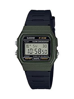 Casio Men s Classic Quartz Resin Strap Black 19.25 Casual Watch  Model  F-91WM-3ACF
