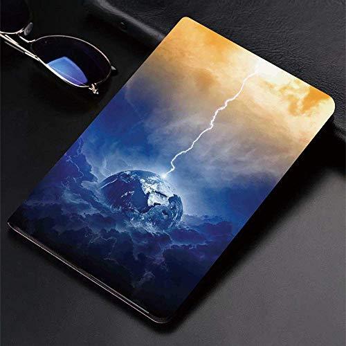 Funda para iPad (24.638, modelo 2018/2017, 6.a / 5.a generación) Funda inteligente ultradelgada y ligera, decoración de lago, Big Lightning Hits Planet Earth en Dramatic Sky Energy Illuminat, fundas i