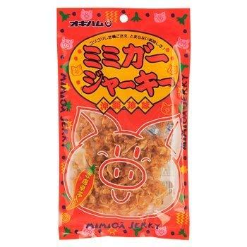 ミミガージャーキー 23g×4袋 オキハム ミミガー(豚耳皮)を島唐辛子でピリ辛に仕上げたジャーキー コリコリ食感 おつまみや沖縄土産におすすめの大人の珍味