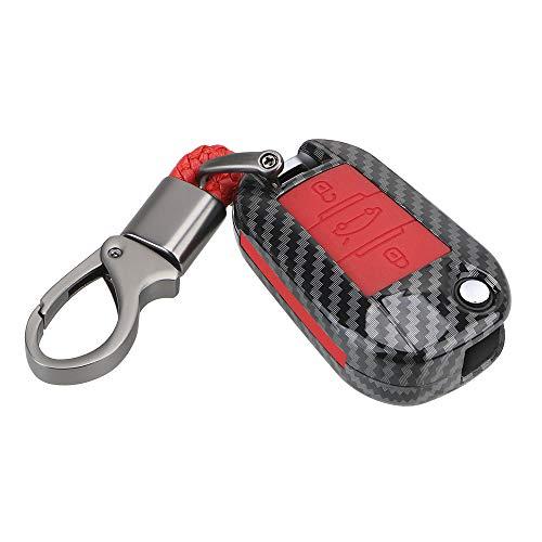 ontto Funda para llave de coche para Citroen C4L C5 C3 C6 C8 Picasso Xsara Peugeot 3008 RCZ 508 408 2008 Carcasa de plástico para llave de coche
