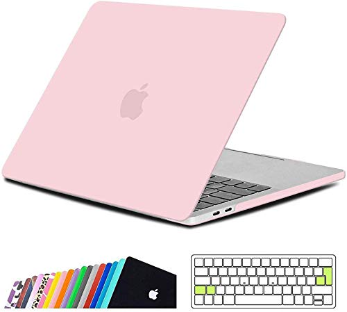 iNeseon Macbook Pro 13 Inch Case 2019/2018/2017/2016, Slim Hard Shell Protective Case and Keyboard Cover for Macbook Pro 13 With/Without Touch Bar Model A2159 A1989 A1706 A1708, Rose Quartz
